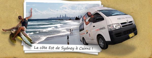 La cote Est de Sydney a Cairns