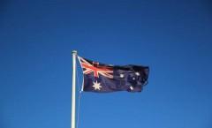 Drapau de l'Australie dans le vent